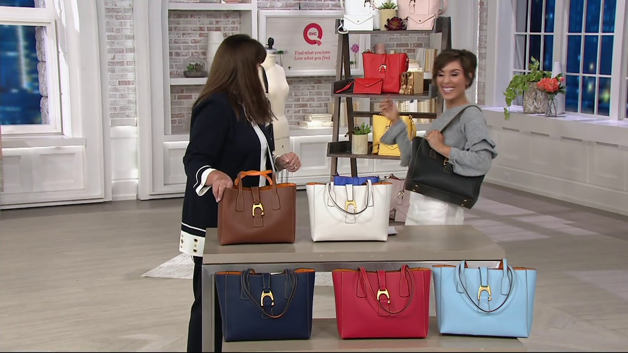 d3da81d319d2 Dooney   Bourke Emerson Leather Small Tote Handbag- Shannon on QVC ...
