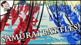 SAMURAI BATTLES FOR JAPAN! Totally Accurate Battle Simulator Gameplay