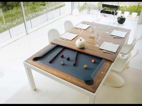 Mesa de comedor y de pool fusionables - YouTube