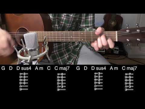 Time Goes Back - John Frusciante (Acoustic Guitar Lesson)