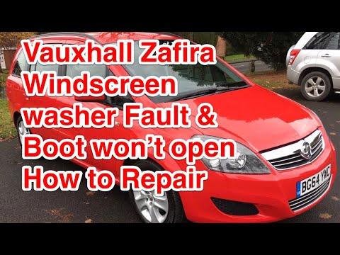 VAUXHALL OPEL ZAFIRA / ASTRA WINDSCREEN WASHERS NOT WORKING  BOOT