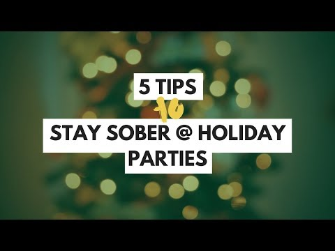 5 Tips for Going Sober to Holiday Parties