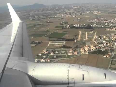 Ryanair landing in Larnaca Airport (12 12 11)