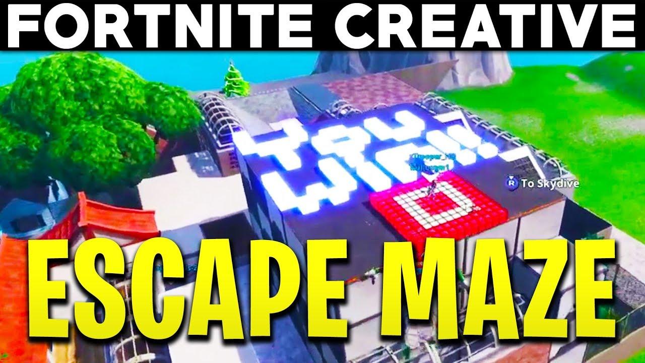 Fortnite Creative - PICKLES ESCAPE MAZE CHALLENGE - (Fortnite Creative  Island Showcase)