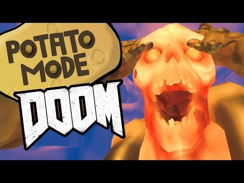 We Send Doom's Graphics To Hell And Back | Potato Mode