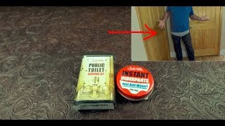 Public Toilet Survival Kit Review And Trying On Instant Underpants