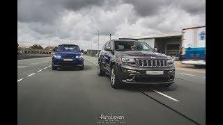 Range Rover Sport SVR vs Jeep Grand Cherokee SRT-8 | AutoLeven | Sound & Accelerations!