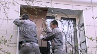 Установка решеток на окна РК-107  Москве - недорого! Решетка кованая РК-107 - ООО