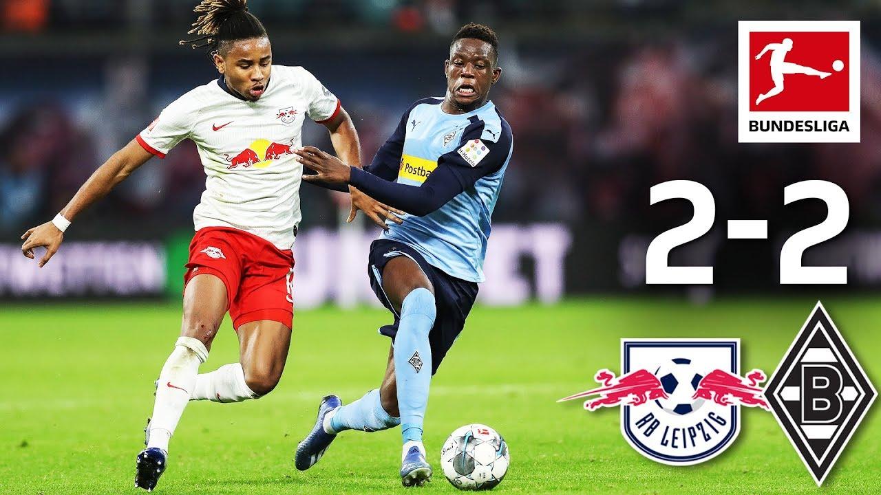 Rb Leipzig Vs Borussia Monchengladbach I 2 2 I Olmo Debut Spectacular Goals Great Comeback Youtube
