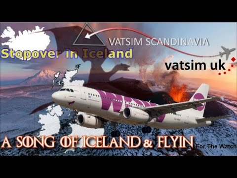 Aerosoft A320 is on Vatsim in a Song of Iceland Fly-in