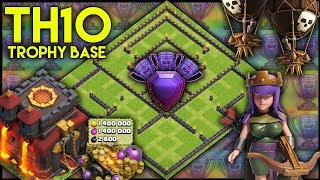 INSANE TOWN HALL 10 [TH10] TROPHY BASE BUILD! W/ Replays | Anti 2* | BEST TH10 BASE - Clash Of Clans