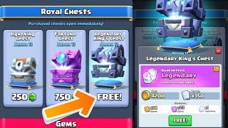 Clash Royale - HOW TO GET FREE LEGENDARY KINGS CHEST!