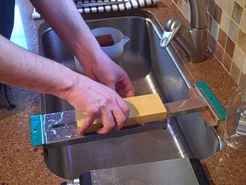 Sharpening A Hiromoto Kitchen Knife With 3 Water Stones
