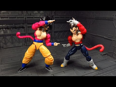 Figure-Rise Standard Super Saiyan 4 Gokou and Vegeta Kit Review