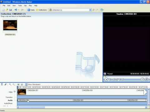 #5 - How To Adjust/mute Audio In Windows Movie Maker!