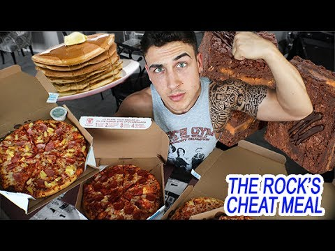 The Rock's 10,000 Calorie Cheat Meal Challenge - YouTube