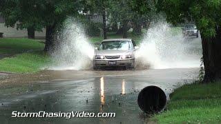 7/2/2015 Herrin, IL Heavy Rain and street flooding B-Roll