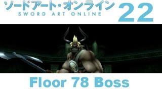 "Sword Art Online: Hollow Fragment - PS VITA Walkthrough 22 - Floor 78 Boss ""The Horn Of Madness"""
