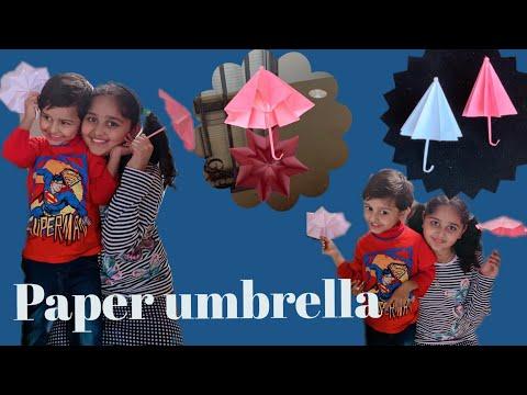 How To Make Paper Umbrella .DIY