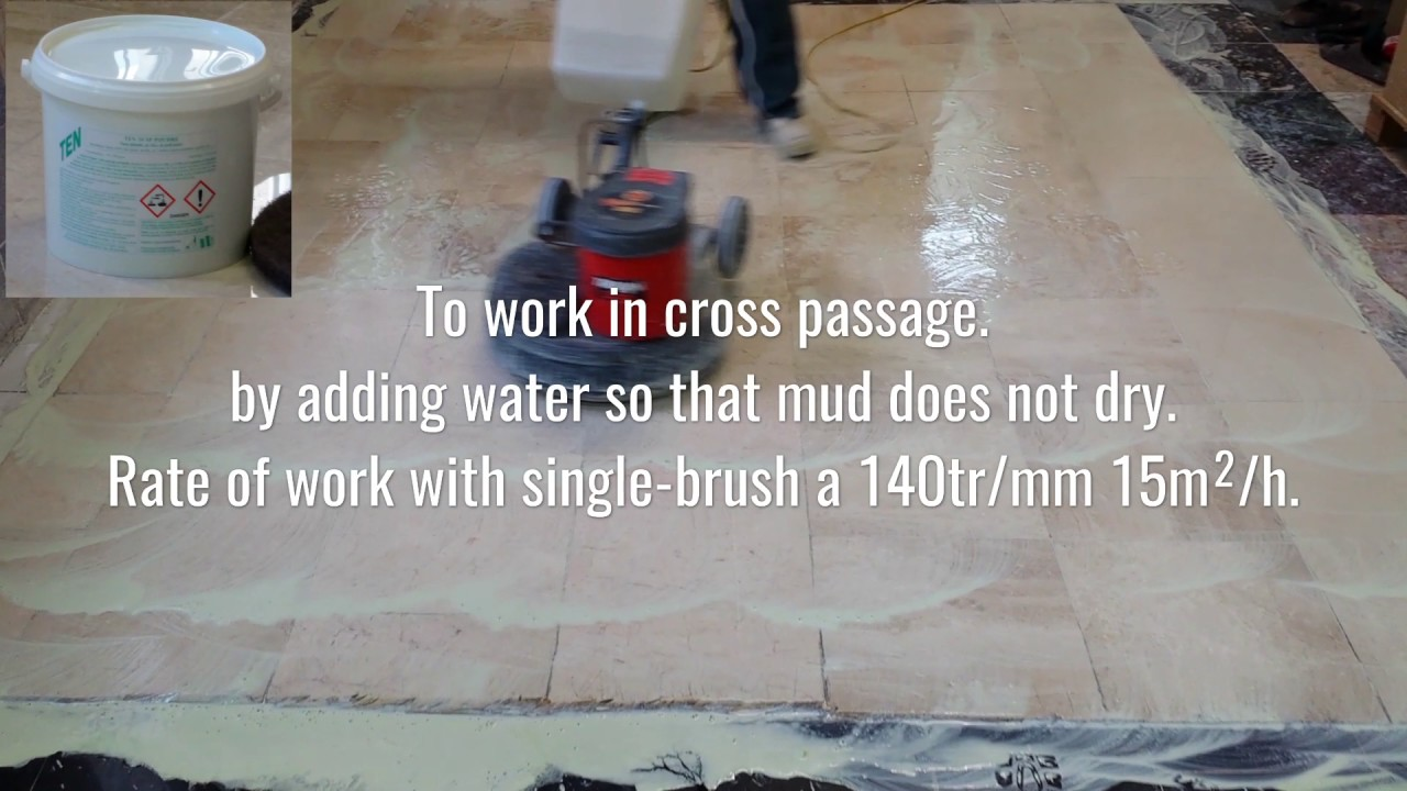 tutorial on the crystallization of a marble floor with TEN 10 SP Powder