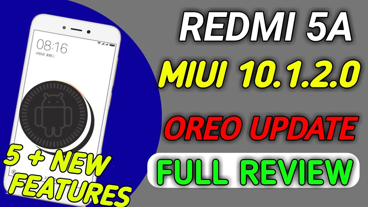 REDMI 5A MIUI 10 1 2 0 OREO UPDATE FULL REVIEW AND 5 MOST BEST FEATURES by  Tech With sumit