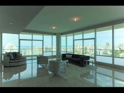 Sleek Oceanfront Penthouse in San Juan, Puerto Rico
