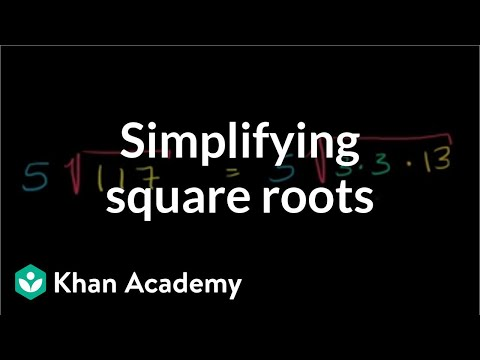 Simplifying Square Roots | Exponents, Radicals, And Scientific Notation | Pre-Algebra | Khan Academy
