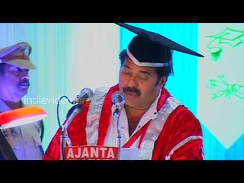 Speech by Mammootty  D.Litt degree function  Kerala University