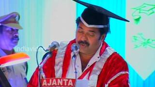 Speech by Mammootty  D.Litt degree function  Kerala University