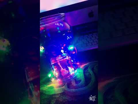 My DIY led lights Bottle with crystal guitar paper weight❤️☺️