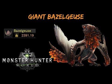 Monster Hunter World  [Ps4] Giant Bazelgeuse   Gold Crown Farming