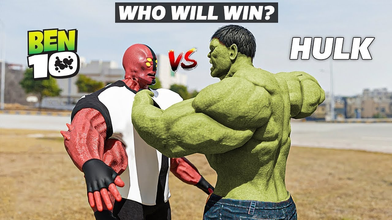 The Hulk VS Ben 10 Four Arms 2 | Epic Battle & Transformations in Real Life | A Short film VFX Test
