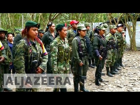 Colombia's FARC rebels begin disarming under peace deal