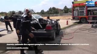 Journée nationale des sapeurs-pompiers : Démonstration et remise de matériel à Lucciana