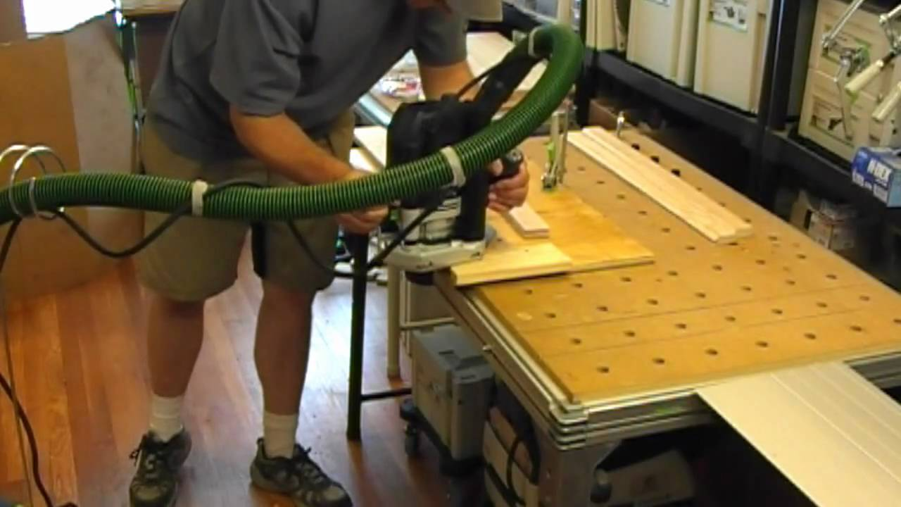 Making a cabinet door with the festool of 2200 router youtube