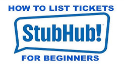 How to sell list Tickets on Stubhub 2018
