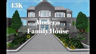 ROBLOX Bloxburg ? 43K Casa de la Familia Moderna ( Modern Family House) Construcción de velocidad