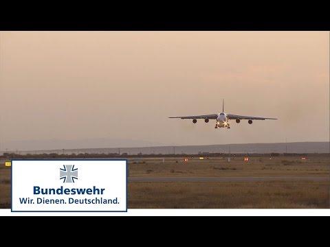 A giant on approach: the Antonov in Mazar-e Sharif - Bundeswehr