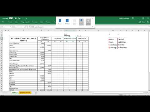 Setting up an Extended trial balance Video demonstration Mp3