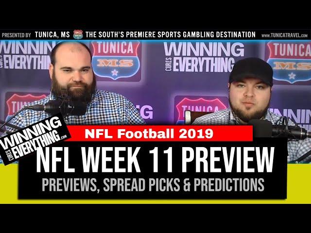 WCE: NFL Week 11 Preview & Big Game Spread Picks