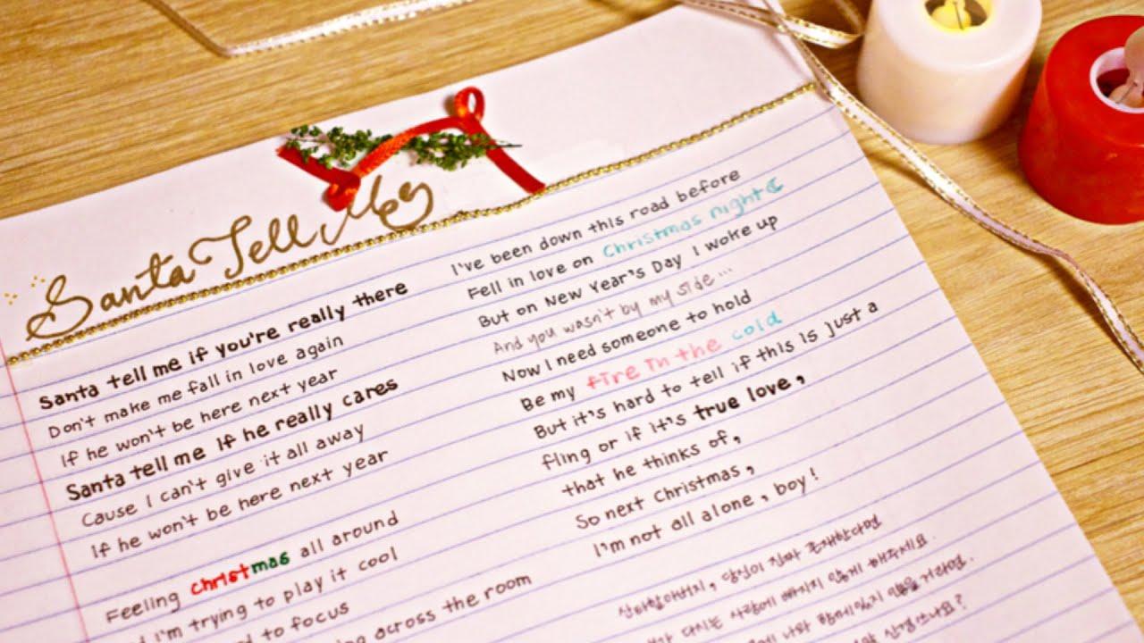 2020년의 크리스마스는 Santa Tell Me 가사쓰기로 집콕힐링하세요🎄❤️ / Ariana Grande - Santa Tell Me Handwritten Lyrics