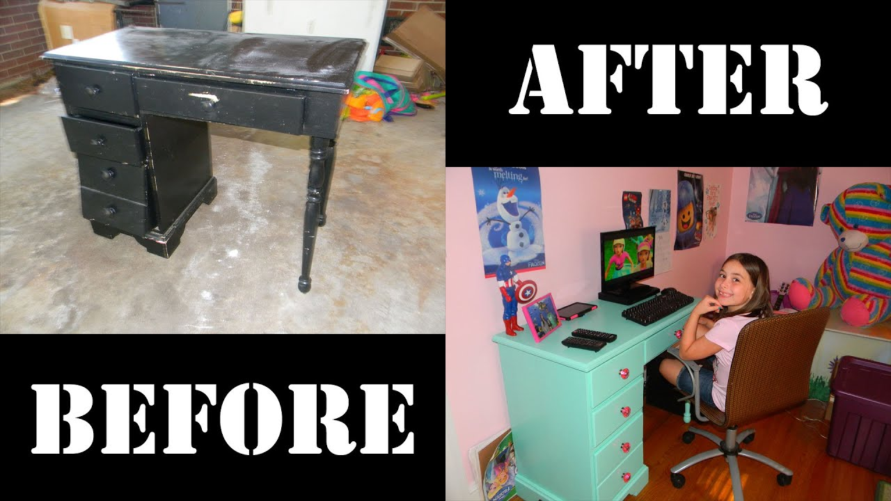 Watch Me Transform This Old Desk Into A Trendy Girl S Computer By Barton Rigged