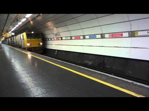 Track cleaning at Moorfields train station