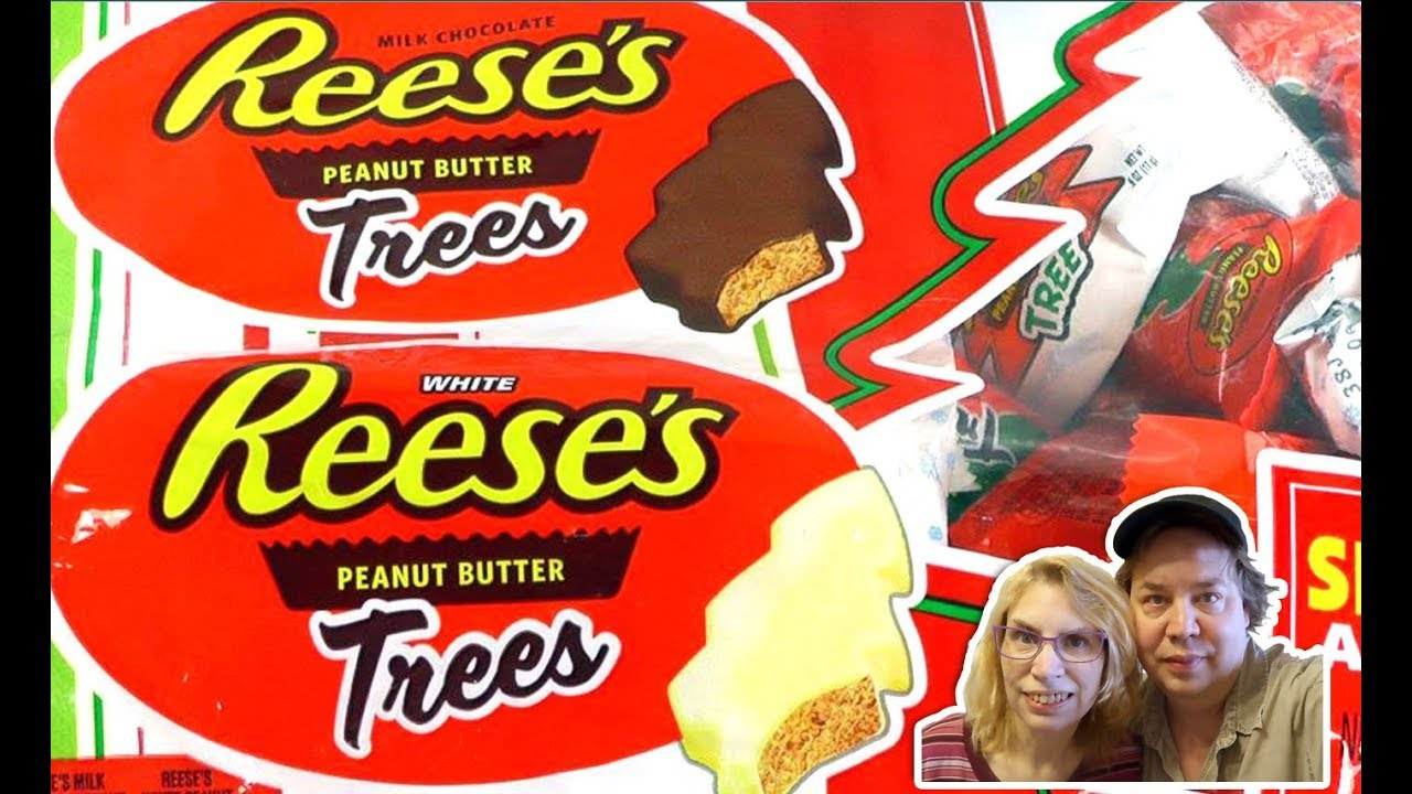 Reese's WHITE Chocolate Christmas Trees REVIEW - Taste Test! - YouTube