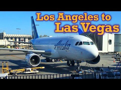 Full Flight: Alaska Airlines A319 Los Angeles to Las Vegas (LAX-LAS)