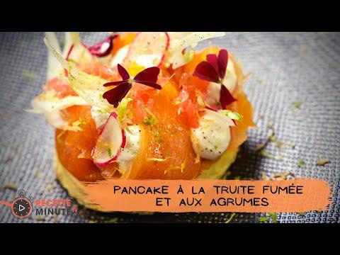 pancake-ultra-moelleux,-truite-fumée-et-agrumes