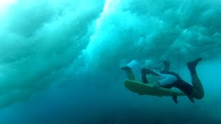 Surfing over Mentawai Reefs Episode One:  Bailing your board.
