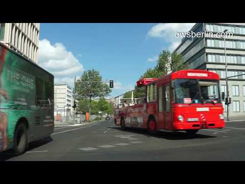 Driving in Berlin. Авто прогулка по Берлину. Fahrt durch Berlin.