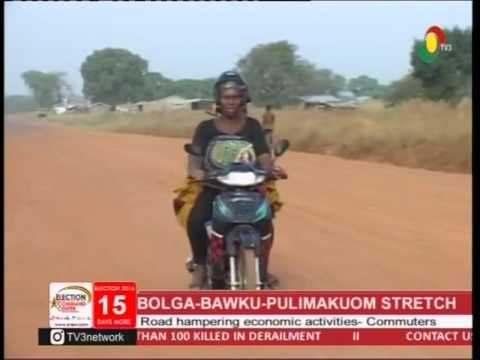 Bolga Bawku- Pulimakuom road in deplorable state -21/11/2016
