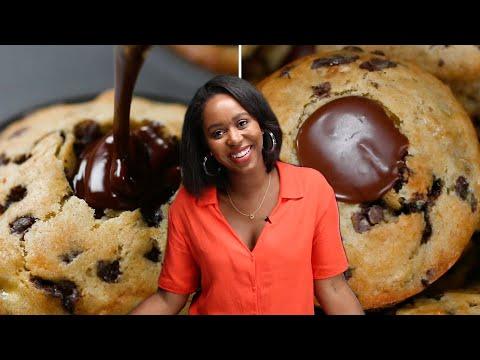 How I Make Chocolate-Filled Banana Muffins • Tasty